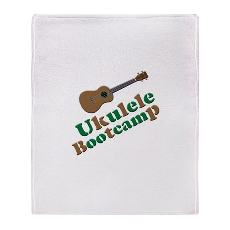 Ukulele Bootcamp Throw Blanket