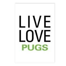 Live Love Pugs Postcards (Package of 8)