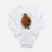 Kokopelli healing Long Sleeve Infant Bodysuit