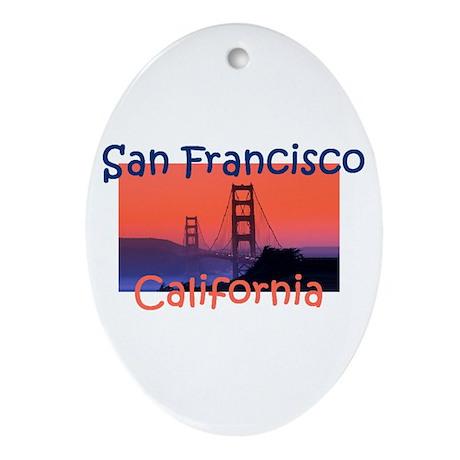 San Francisco Ornament (Oval)