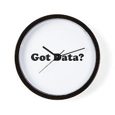 Got Data? Wall Clock
