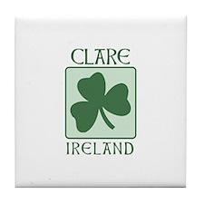 Clare, Ireland Tile Coaster