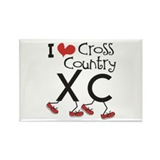 I heart Cross Country Rectangle Magnet (10 pack)