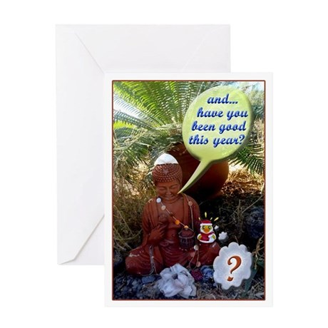 buddha x-mas Greeting Card