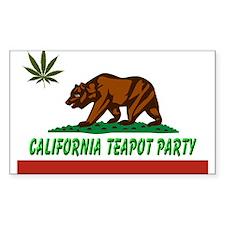 California Teapot Party Decal