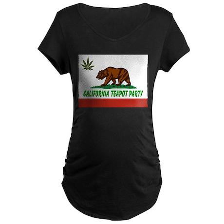 California Teapot Party Maternity Dark T-Shirt