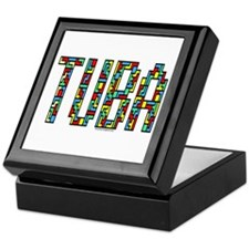 Tuba Color Blocks Keepsake Box