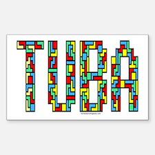 Tuba Color Blocks Decal