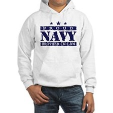 Proud Navy Brother In Law Hoodie