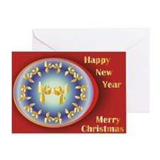 Cute Reiki christmas Greeting Card