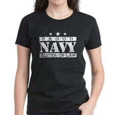 Proud Navy Sister In Law Tee