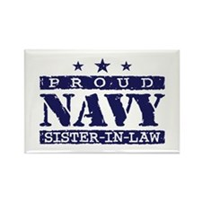 Proud Navy Sister In Law Rectangle Magnet