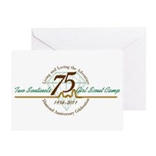Two Sentinels 75 Anniversary Greeting Card