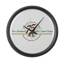 Two Sentinels 75 Anniversary Large Wall Clock