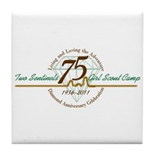 Two Sentinels 75 Anniversary Tile Coaster