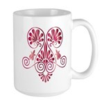 Namaste Tattoo in Ruby Red Large Mug