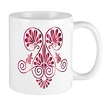 Namaste Tattoo in Ruby Red Mug