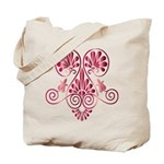 Namaste Tattoo in Ruby Red Tote Bag