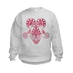 Namaste Tattoo in Ruby Red Kids Sweatshirt