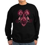 Namaste Tattoo in Ruby Red Sweatshirt (dark)