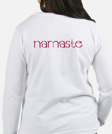 Namaste Tattoo in Ruby Red T-Shirt