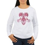 Namaste Tattoo in Ruby Red Women's Long Sleeve T-S