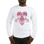 Namaste Tattoo in Ruby Red Long Sleeve T-Shirt
