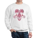 Namaste Tattoo in Ruby Red Sweatshirt