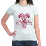 Namaste Tattoo in Ruby Red Jr. Ringer T-Shirt