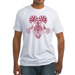 Namaste Tattoo in Ruby Red Fitted T-Shirt