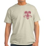 Namaste Tattoo in Ruby Red Light T-Shirt