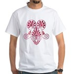 Namaste Tattoo in Ruby Red White T-Shirt