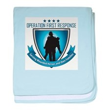 Cute Support the troops baby blanket