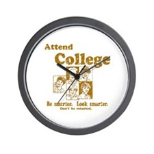 Attend College Wall Clock