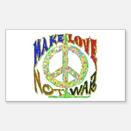 Love not War Sticker (Rectangle)