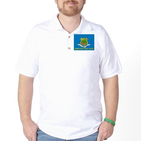 Connecticut Teapot Party Golf Shirt