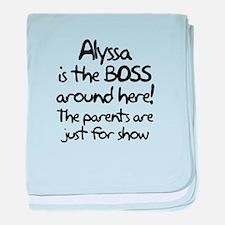 Alyssa is the Boss baby blanket