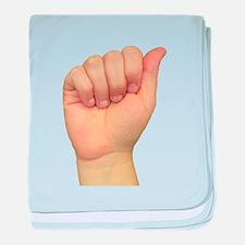 ASL Letter A baby blanket