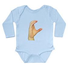ASL Letter C Long Sleeve Infant Bodysuit