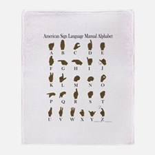 ASL Alphabet Throw Blanket