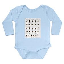ASL Alphabet Long Sleeve Infant Bodysuit