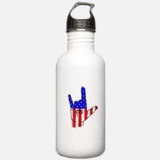 I Love USA Sign Language hand Water Bottle
