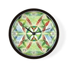 Festive Sacred Geometry Wall Clock