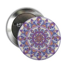 """Funny Artistic flower 2.25"""" Button"""