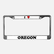 I Love Oregon License Plate Frame
