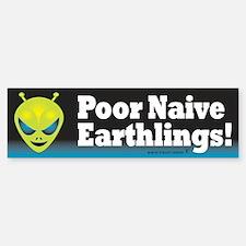 Alien: Poor Earthlings Bumper Bumper Sticker