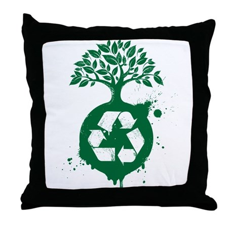 Recycle Or Throw Away Pillows : Recycle Throw Pillow by FinestShirts