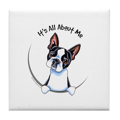 Boston Terrier IAAM Tile Coaster