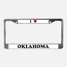 I Love Oklahoma License Plate Frame