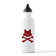 Plaid Kitty X-Bones by Rotem Gear Water Bottle